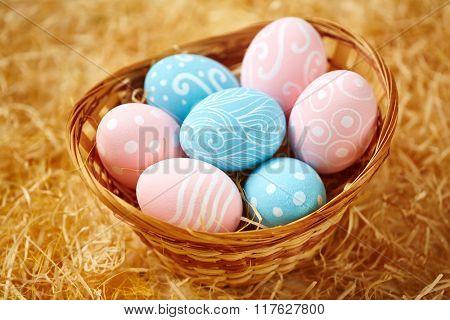 Basket with Easter symbols