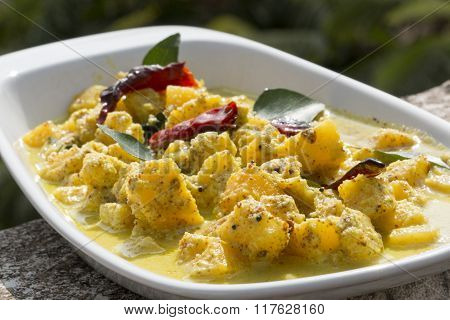 Ananas Sasam Or Pineapple Sasam Is A Unique Dish From Goa, India.