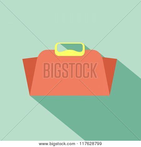 Girl bag flat design style