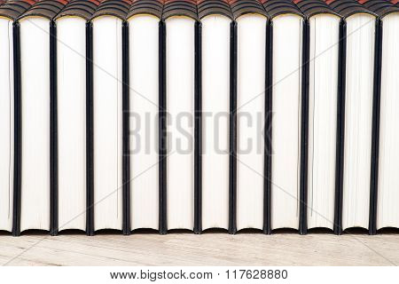 Row of leather books