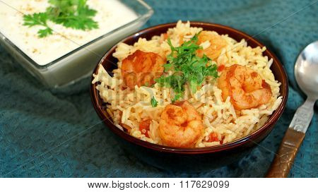 Prawn Pulao Is A Lightly Spiced Rice And Prawn Preparation From Goa, India