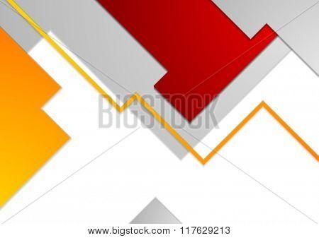 Tech minimal corporate brochure template. Vector illustration background