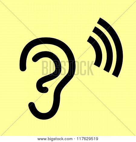 Human ear sign