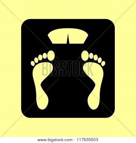 Bathroom scale sign