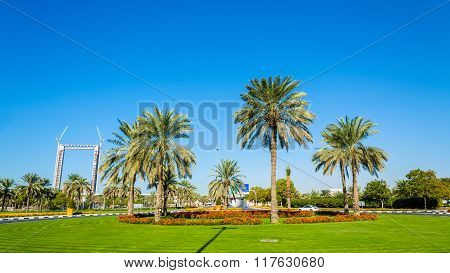 Roundabout In Zabeel District Of Dubai, Uae