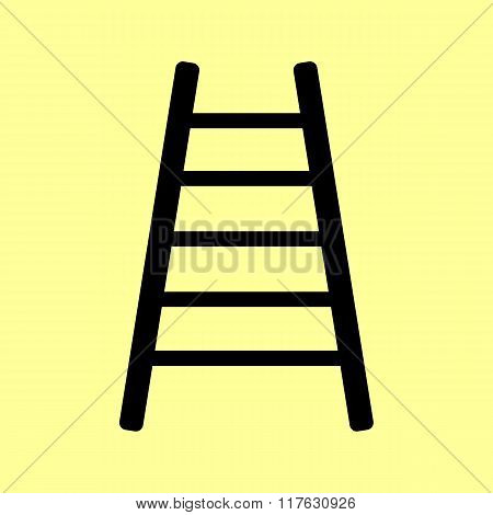 Ladder sign. Flat style icon