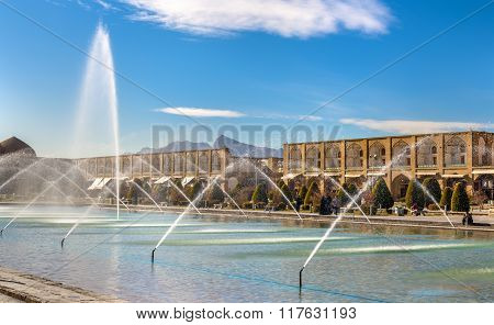 Fountain On Naqsh-e Jahan Square In Isfahan - Iran