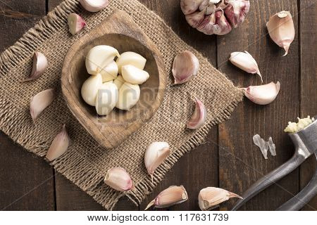 Garlic And Garlic Press
