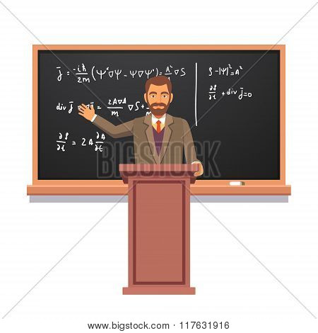 University professor giving a lecture