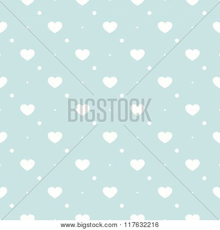 Cute Retro Abstract Heart Seamless Pattern. Can Be Used For Cover Fills, Web Page