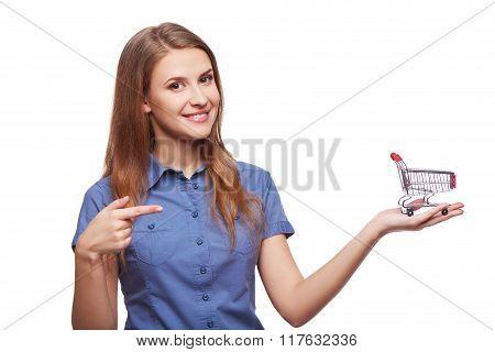Shopping concept woman