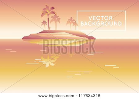 Vector Abstract Landscape In Low Poly Style In Bright Gradient Colors