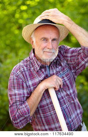 Smooth Senior Gardener