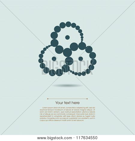 Some swirled circles symbol isolated on light blue background