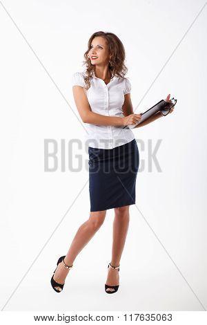 business woman in studio