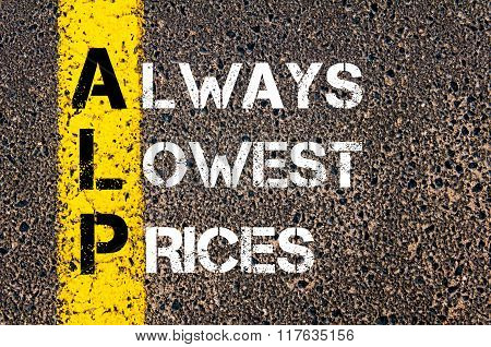 Business Acronym Alp Always Lowest Prices