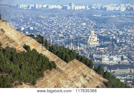 View of Tbilisi from mountains
