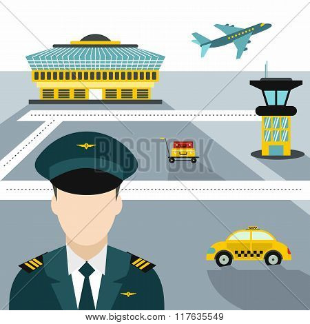 Airport illustration. Airport concept. Airport concept art. Airport concept web. Airport concept new. Airport concept www. Airport concept app. Airport background. Airport concept flat