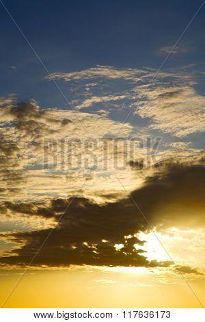 Asia   The  Kho Tao Bay Isle Sunset Sun    And Cloud