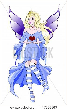 Fairy Valentines Blue