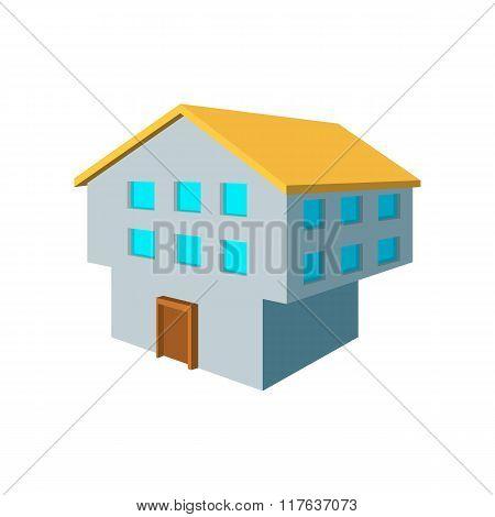 Two-storey house cartoon icon