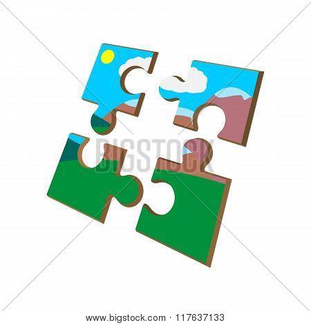 Colorful puzzle cartoon icon