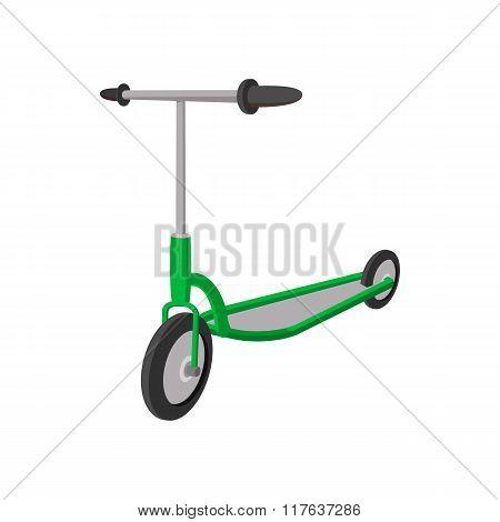 Kick scooter cartoon icon