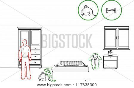 Vector Illustration Of A Earthquake Protection Methods