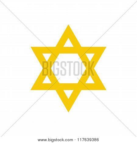 David star flat icon