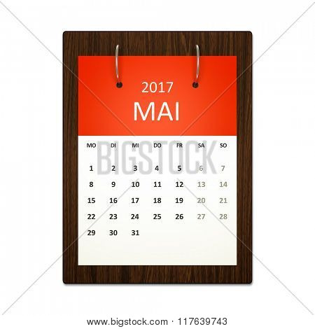 An image of a german calendar for event planning 2017 may