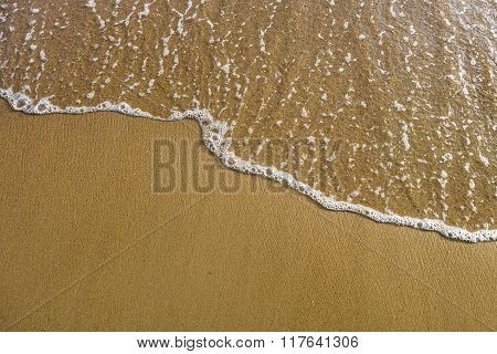 Sand and sea wave texture