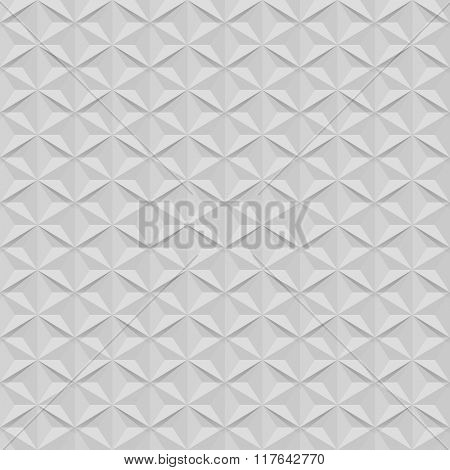 Seamless white wall star shaped vector pattern.