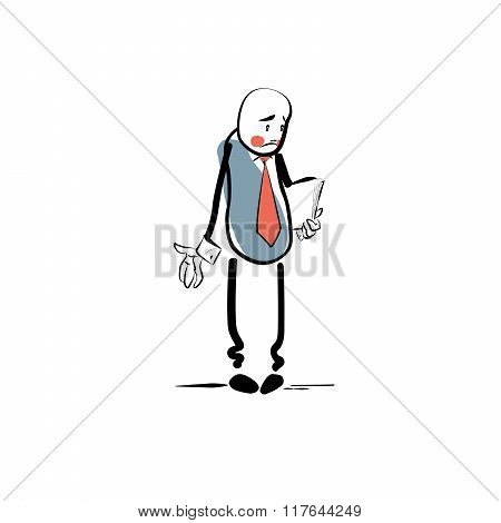 Sad businessman business concept failure