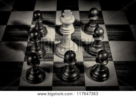 Pawns Surrounding King