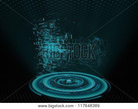 Car engine hologram