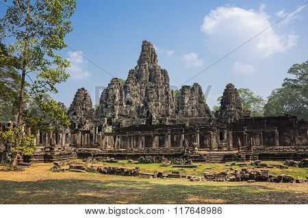 Bayon Temple At Angkor Wat Complex