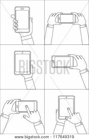 Hands Holding Mobile Phones