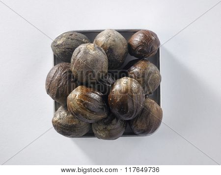 top view of nut meg on the square container