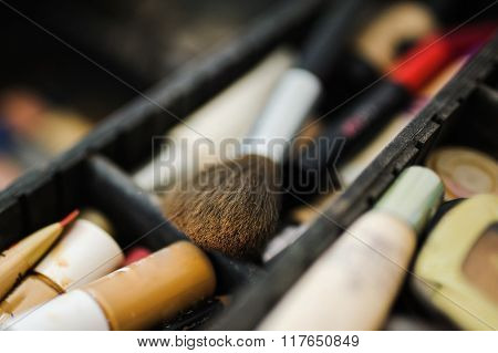 Make-up And Cosmetics Products At Beauty Salon