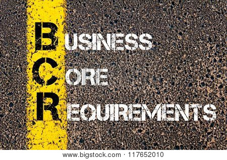 Business Acronym Bcr Business Core Requirements
