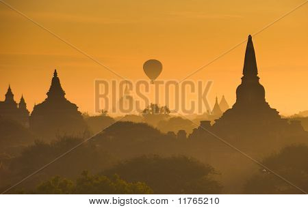 Sunrise Over Ancient Bagan, Myanmar
