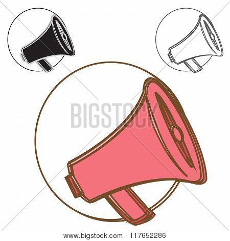 loudspeaker logo concept