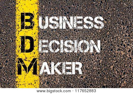 Business Acronym Bdm Business Decision Maker