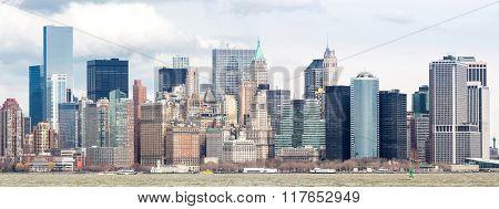 Panorama of New York City at Lower Manhattan