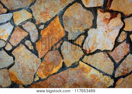 Abstract natural background with stonework