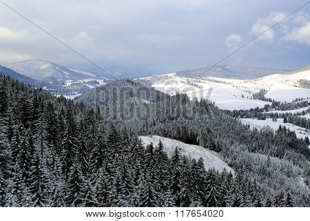 nice winter landscape in mountains of Slovakia