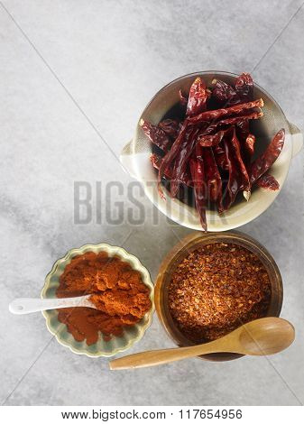 dry chili and grounded chili