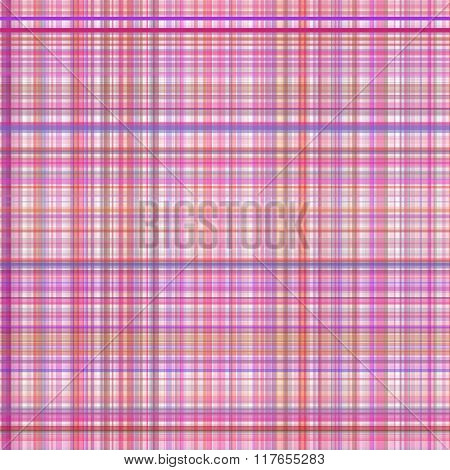 Pastel pink multicolored stripes plaid