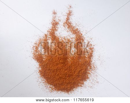 chili powder shaped like a fire