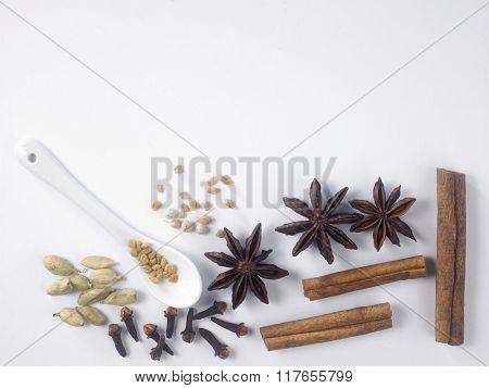 top view of coriander powder